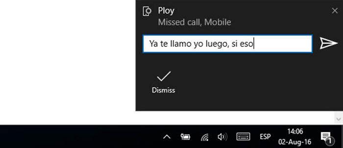Notificaciones Android en Windows 10