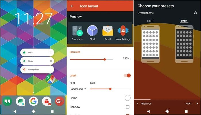 Nova Launcher aplicacion exclusiva android