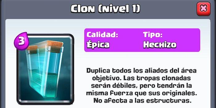 Nueva carta Clon Clash Royale