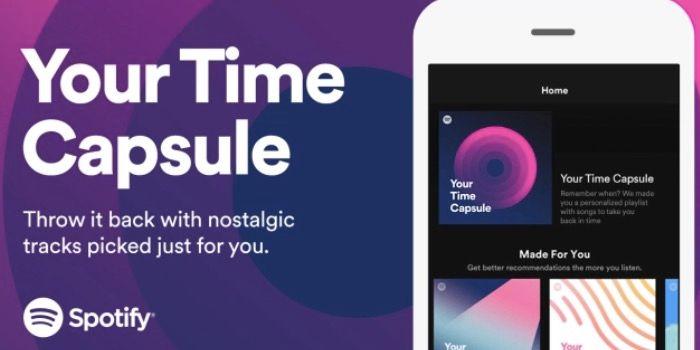 """Nueva lista de Spotify """"Cápsula del Tiempo"""""""