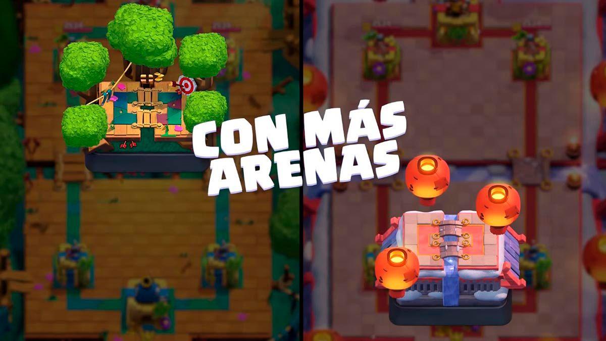 Nuevas arenas Clash Royale Temporada 24