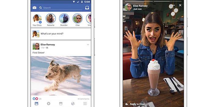 Nuevas historias Instagram en Facebook