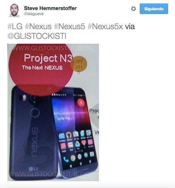Nuevas imágenes del LG Nexus 5 2015