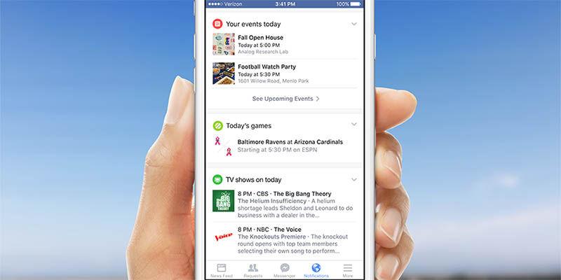 Nuevas notificaciones Facebook
