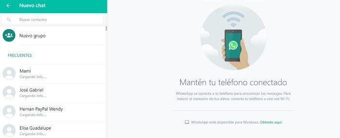 Nuevo chat en WhatsApp Web
