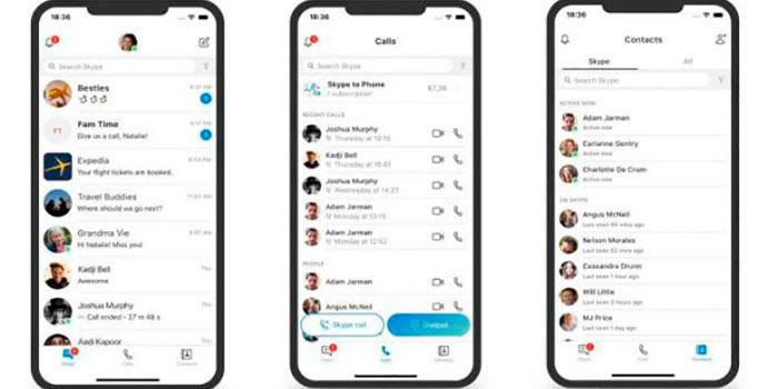 Nuevo diseño en Skype