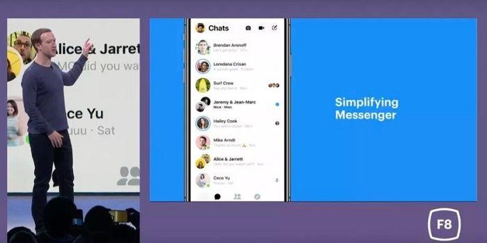 Nuevo diseño Facebook Messenger