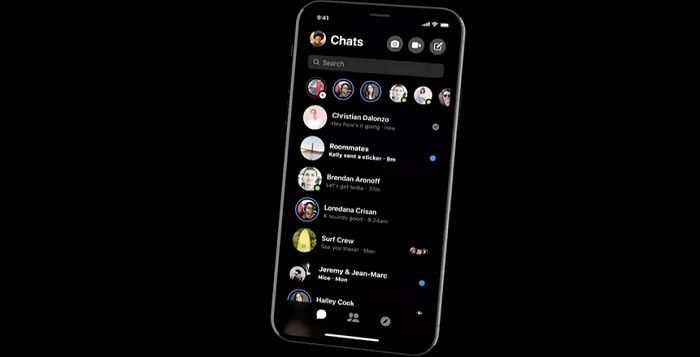 Nuevo modo oscuro Messenger