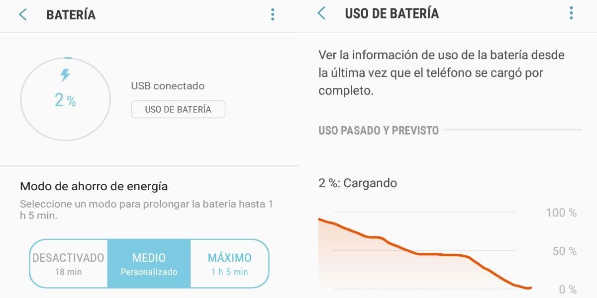 Batería de móvil con bajo rendimiento