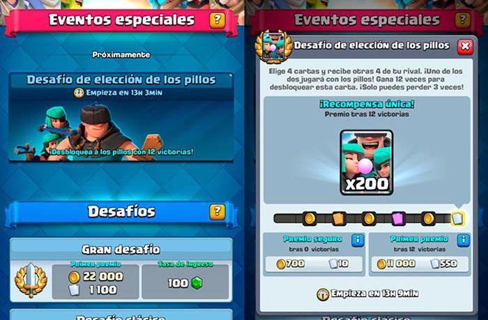 Nuevo torneo pillos Clash Royale