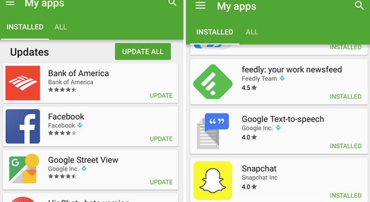 Nuevos cambios en las valoraciones de aplicaciones de Google Play