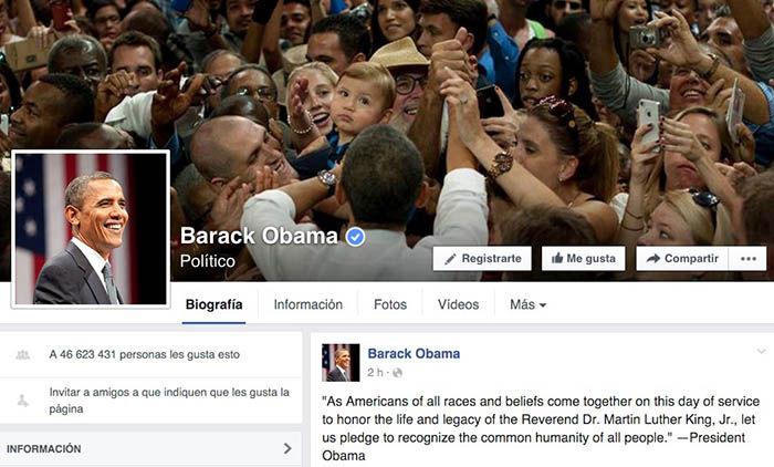 Obama en Facebook