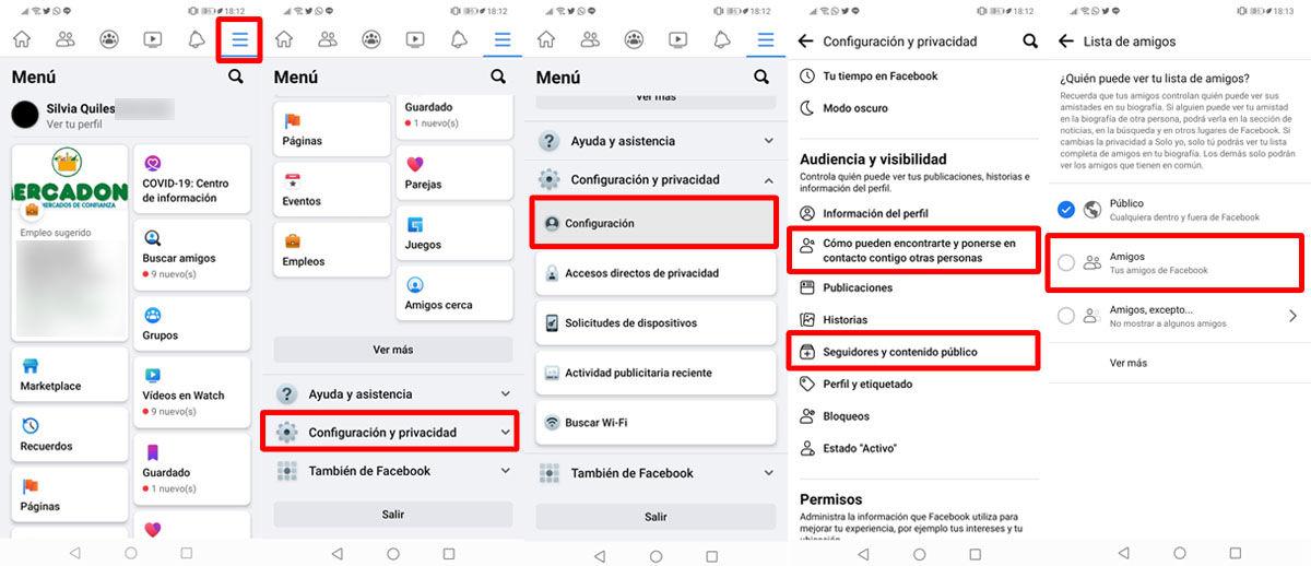Oculta tu perfil de Facebook para no salir en listas de amigos
