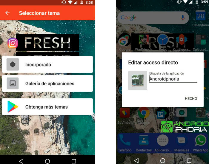 Ocultar apps en Android b