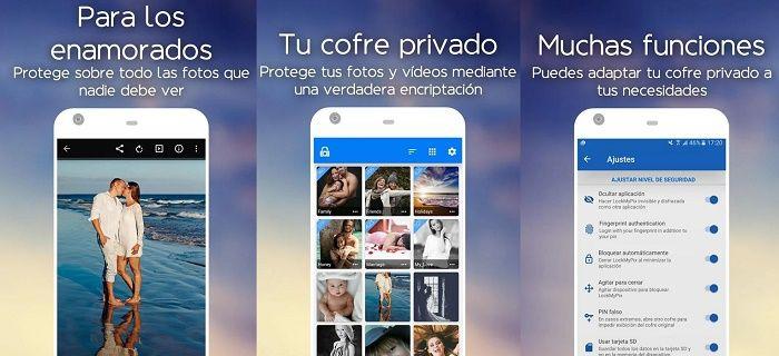 Ocultar imágenes y vídeos app