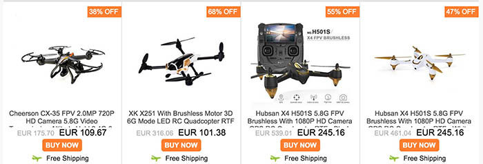 Oferta drones Geekbuying