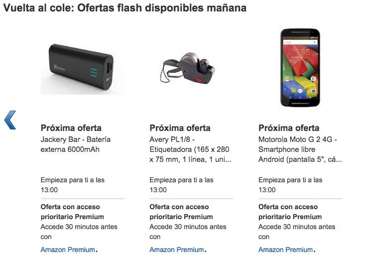 Oferta flash Amazon Moto G 2