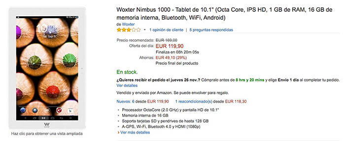 Oferta tablet Amazon Black Friday 2015