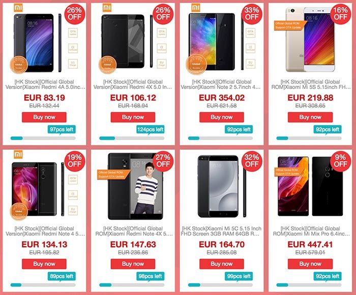Ofertas Xiaomi Geekbuying flash