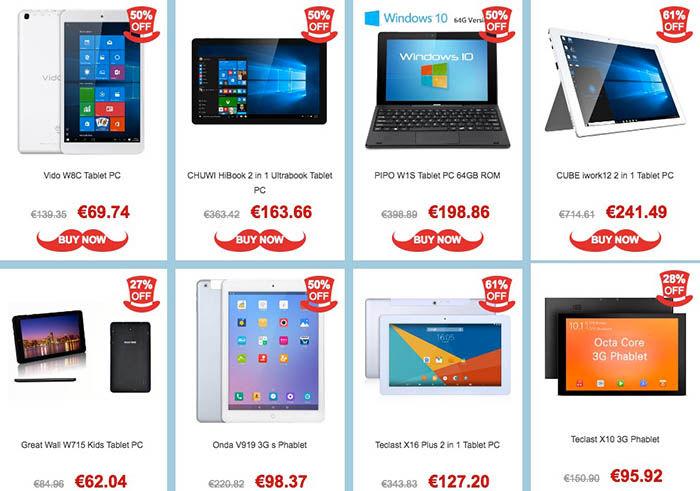Ofertas tablets primavera GearBest