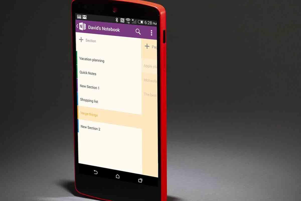 OneNote app alternativa a Notability