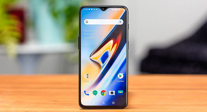 OnePlus 6T parte frontal