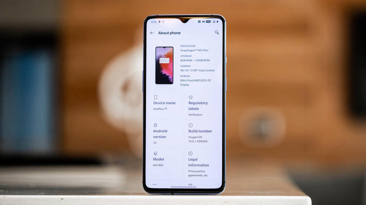OnePlus 7T frontal