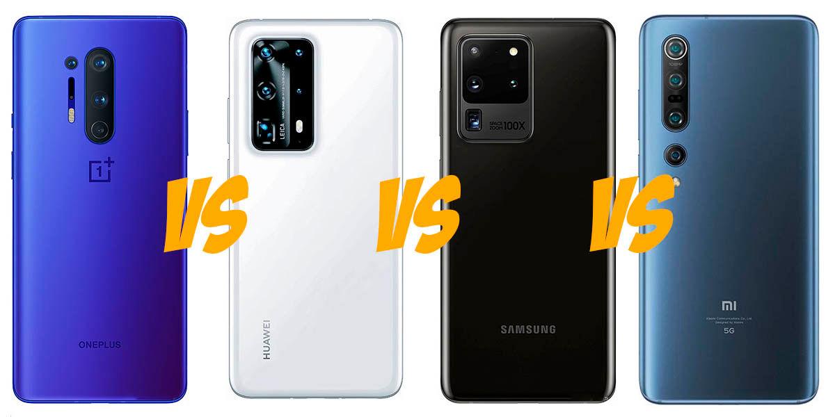 OnePlus 8 Pro vs Huawei P40 Pro Plus vs Galaxy S20 Ultra vs Xiaomi Mi 10 Pro