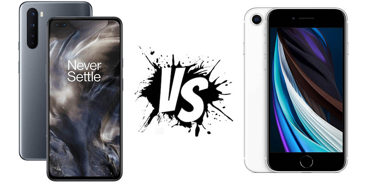 OnePlus Nord vs iPhone SE 2020
