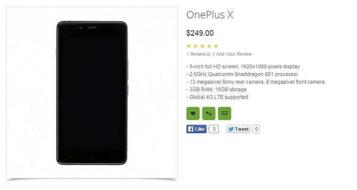 OnePlus X características lanzamiento y precio