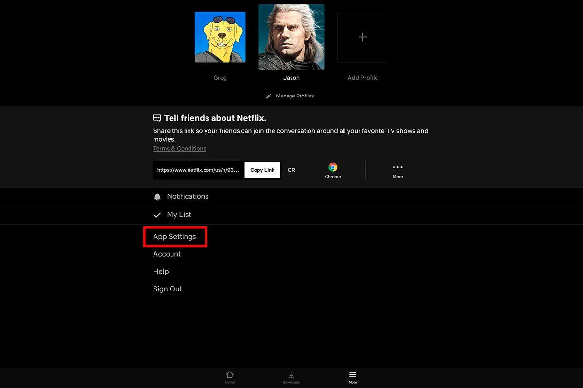 Opciones de App Chromebook