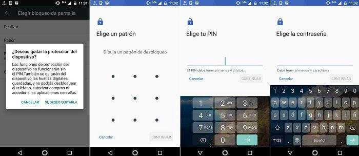Opciones para bloquear smartphone Android