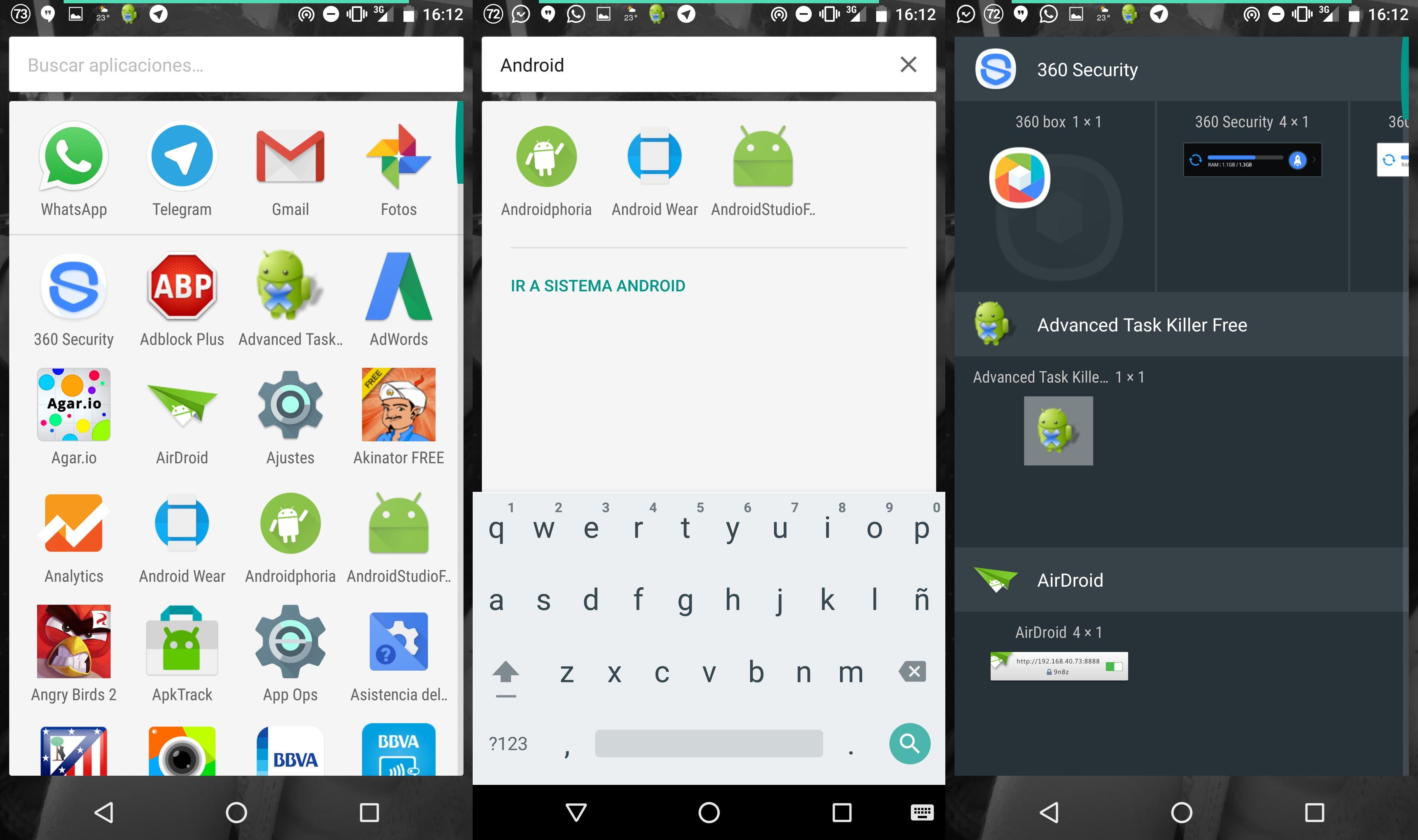 Opinión cajón de aplicaciones en Android 6.0 Marshmallow