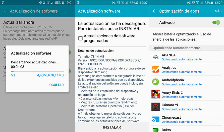 Optimización de Apps Galaxy S6