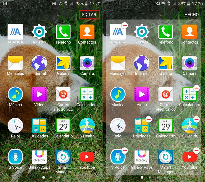 Ordenar aplicaciones Galaxy S6