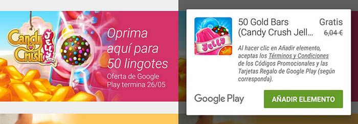 Oro gratis Candy Crush Jelly