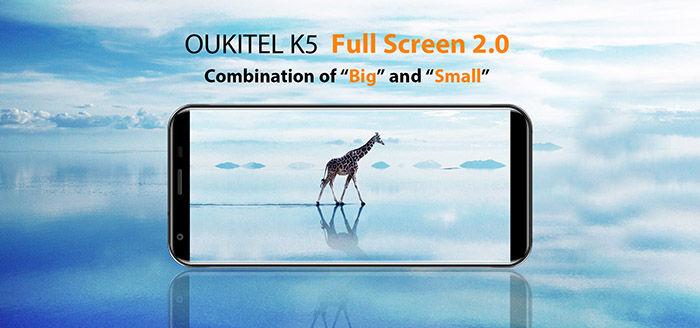 Oukitel K5 todo pantalla