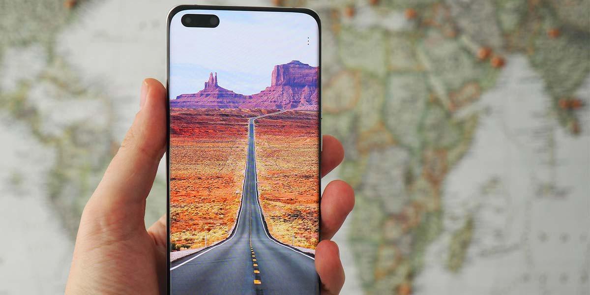 Smartphone Huawei P40 pantalla activa