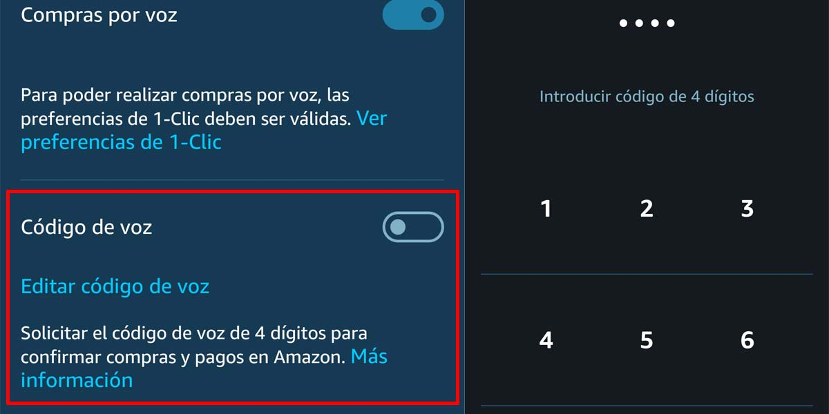 Crear PIN compra por voz con Amazon Echo y Alexa