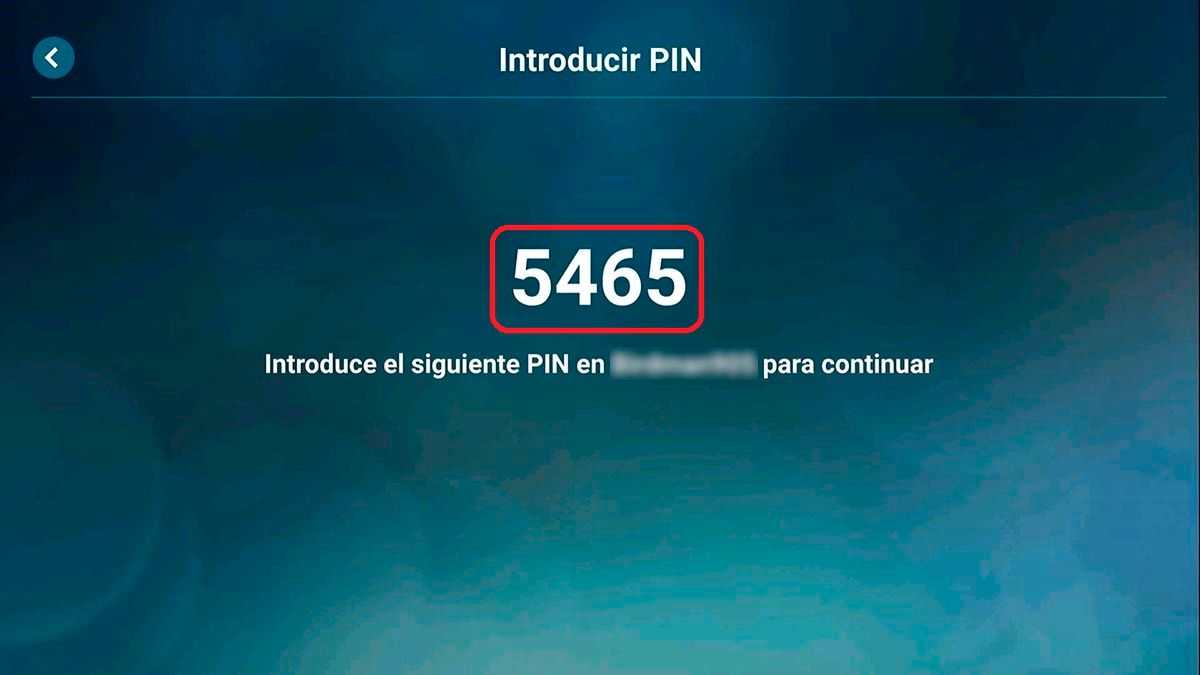 PIN de conexion Steam Link