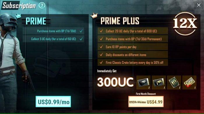 PUBG Mobile Prime Artículos