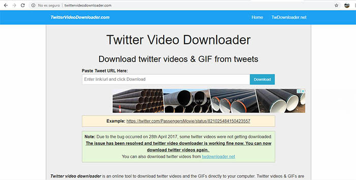descargar videos y gifs de twitter android