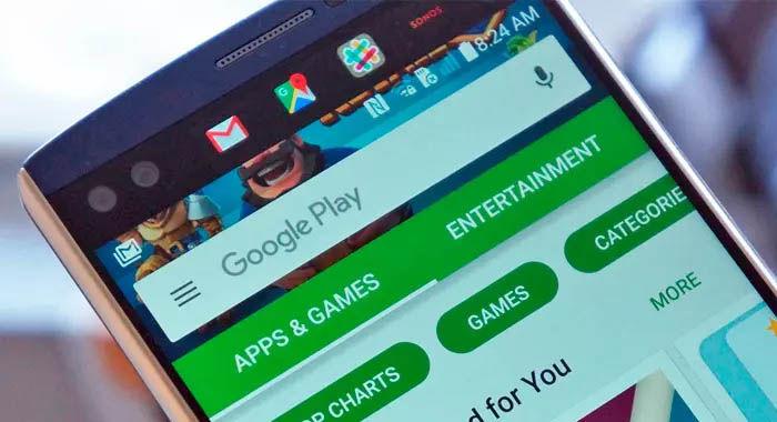 Pagina principal de la Google Play
