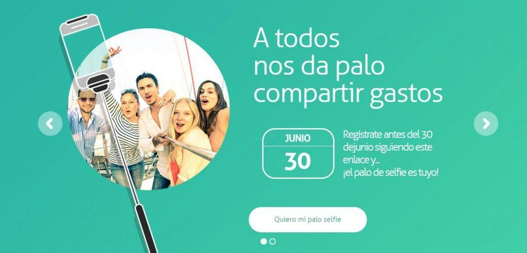 Palo de selfies con Yaap Money