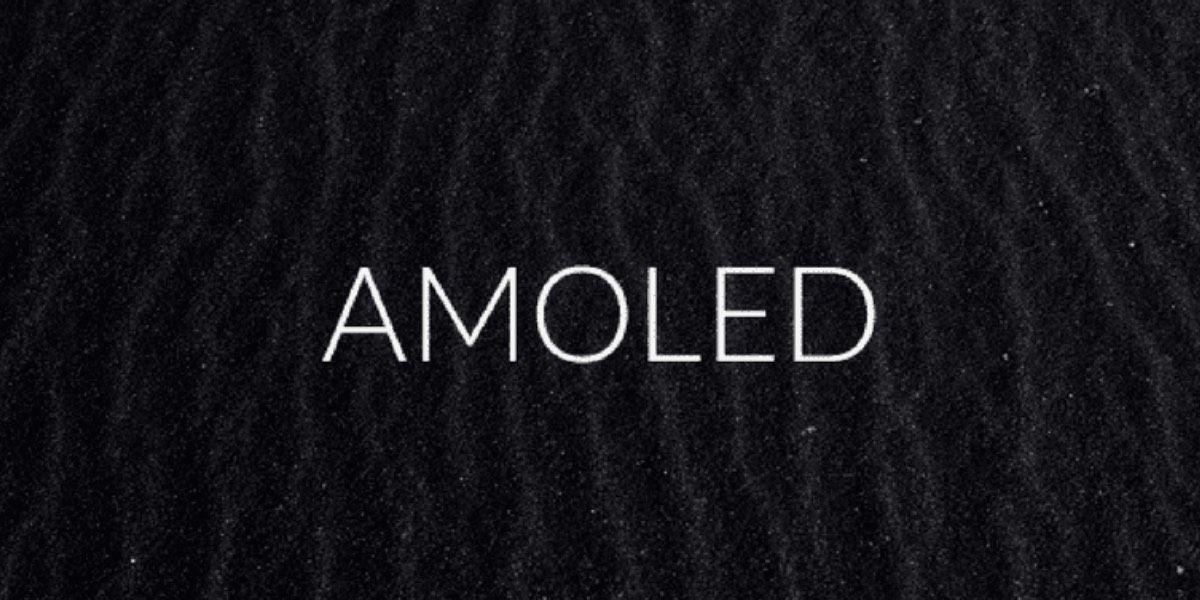 Pantalla AMOLED ahorra batería fondo negro