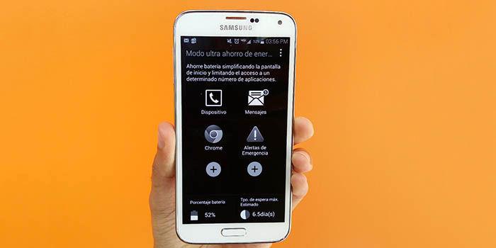Pantalla Android blanco y negro