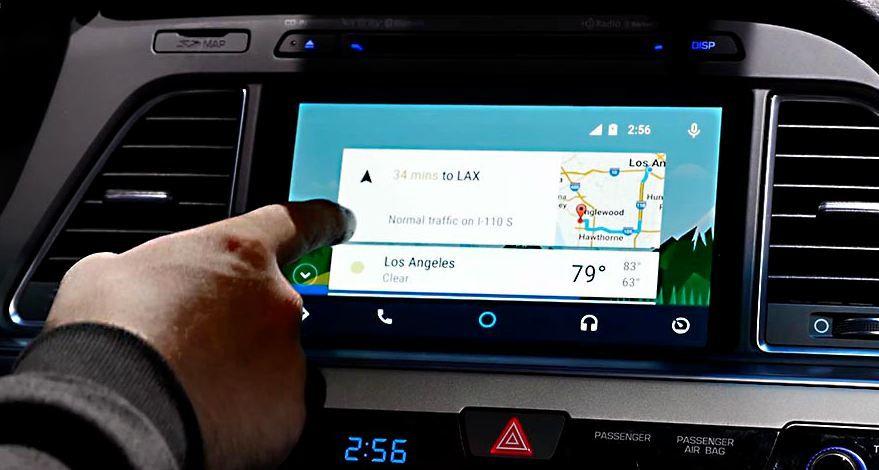 Pantalla de inicio en Android Auto