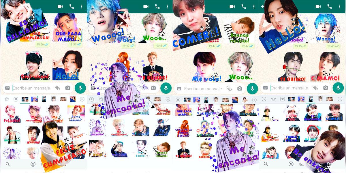 Paquete de pegatinas de WhatsApp y Telegram de Kpop para fans de BTS