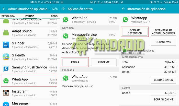 Parar WhatsApp temporalmente