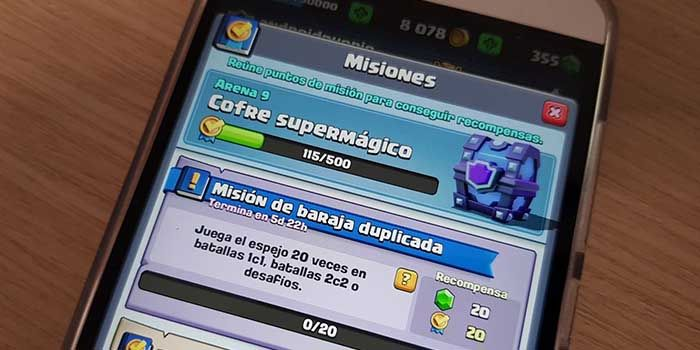 Pasar Misiones Clash Royale